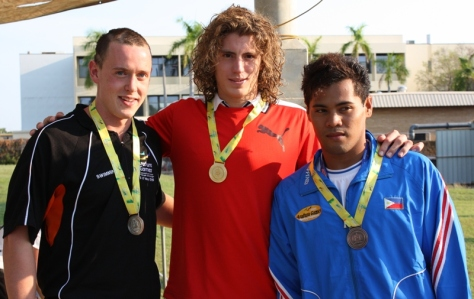 haroon bronze. Team Philippines-Davao's Haroon Cali (extreme right) with New Caledonia's Jean Baptiste Lhuillier and NT's Josh Barnes.