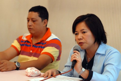 Datu Uchida Development Foundation Inc. officer-in-charge Ines P. Mallari (right) announces the trip of Davao City Baseball Association officials to Japan for the Baseball Study Tour on August 7 to 14 for the Dabawenyos to gain insights, strategies and techniques about the sport and improve the baseball game in Davao City. With her at the weekly DSA Forum at Tower Inn on Thursday is Philta regional vice president Juanito Cansino Jr. who announced the holding of the RRD-Inday Sara Kadayawan Tennis Tournament on August 15 to 17 at the Eco 4 and Davao Capitol Tennis Clubs.