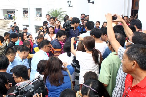 Well-loved Manny Pacquiao in Sarangani with fans
