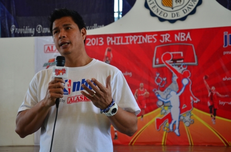 PBA legend Jojo Lastimosa graced the Jr. NBA Coaches' and School Clinics hosted by Phoenix Petroleum on February 2 and 3, 2013 at the Ateneo De Davao University sports complex. He also joined other local coaches in training the kids during the school clinic.