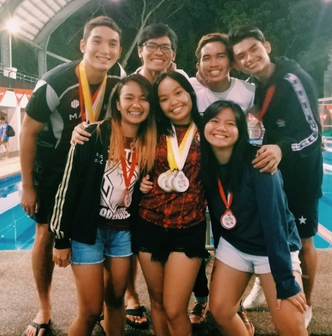 UP Mindanao swimmers